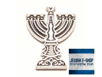 Přívěsek Menora - Židovský svícen - na kůžičku