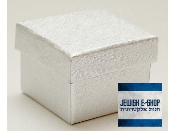 Stříbrná papírová krabička