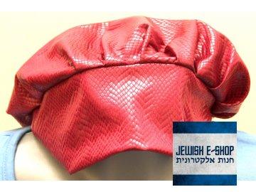 Dámská pokrývka hlavy - Tichel - červená