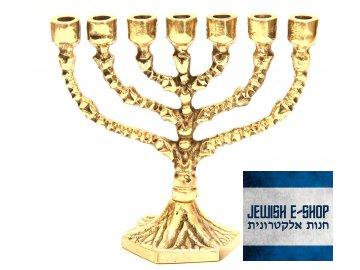 Židovský svícen - Menora - Menorah 9 cm