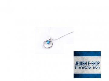 Izraelský stříbrný řetízek s opálem s Ag 925/1000