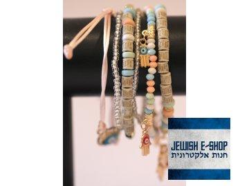 Náramek ze 6-ti náramků s chamsou - Judaica