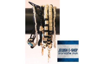 Černý náramek ze 6-ti náramků - Judaica