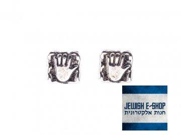 Celostříbrné pecky s chamsama 925/1000