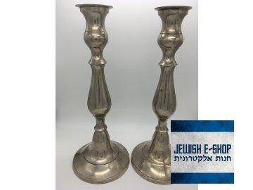 Krásné masivní židovské svícny - šábesové svícny 29 cm