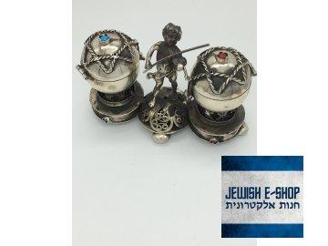 DUO Havdalová stříbrná kořenka na vonné koření s hudebníkem
