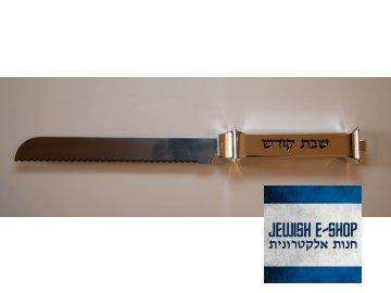 Nůž na Chalu se stříbrnou rukojetí 925/1000 - nový v dárkovém balení
