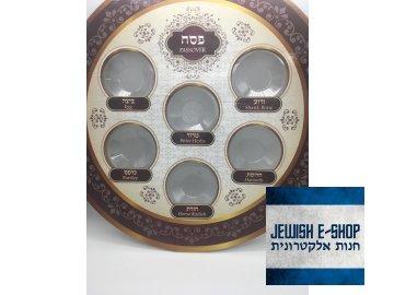 Sederový talíř jednorázový (papír a plast) - Made in Israel