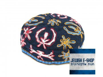 """""""Bucharská"""" kippa - jarmulka s barevným vzorem, různé velikosti"""