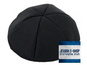 Černá kippa - jarmulka 26 cm, terylene