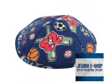 Kippa - jarmulka míčové sporty, 19 cm