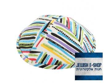 Kippa - jarmulka barevná, 19 cm