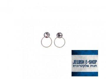 Izraelské stříbrné náušnice Ag 925