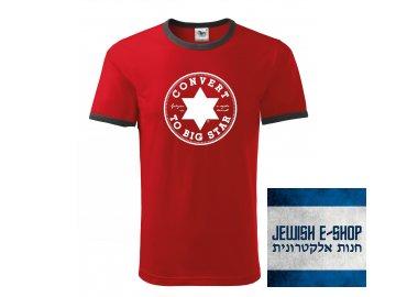Tričko - Convert - červené s bílým potiskem - Jakost II.