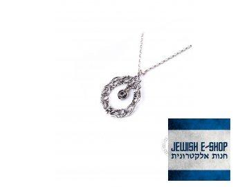 Stříbrný náhrdelník s kytičkou