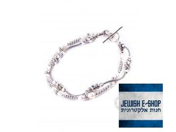 Stříbrný náramek s perlami