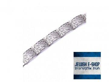 Izraelský stříbrný náramek Ag 925