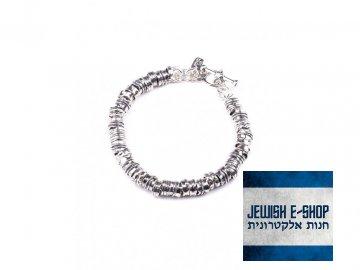 Izraelský stříbrný náramek s ozdobnými dílky Ag 925