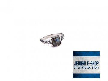 Izraelský stříbrný prsten s labradoritem - Velikost 8 Ag 925