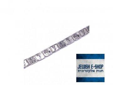 Izraelský stříbrný náramek s rostlinnými motivy Ag 925