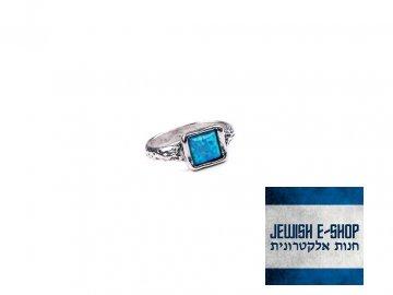 Izraelský stříbrný prsten s opálem - Velikost 6 Ag 925