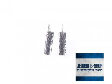 Izraelské stříbrné náušnice s drobnými kytičkami Ag 925