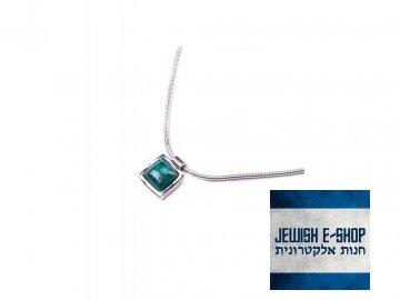 Izraelský stříbrný náhrdelník s tyrkysem Ag 925/1000