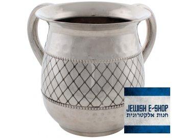 Natla s geometrickým vzorem z Izraele - nerezová ocel