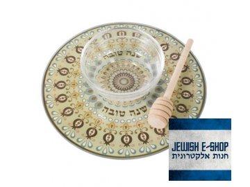 Servírovací set na jablko a med z Izraele