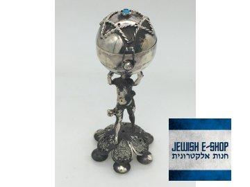 Židovská kořenka na Havdalu kořenka s Davidovou hvězdou 10 cm - Ag 925/1000
