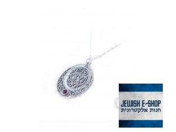 Stříbrný náhrdelník s granátem