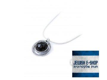 Stříbrný náhrdelník s onyxem