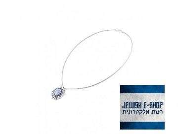 Stříbrný náhrdelník s moonstonem