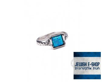 Stříbrný prsten s opálem - Velikost 7