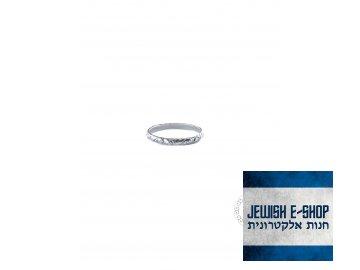 Stříbrný jemný prsten - Velikost 7