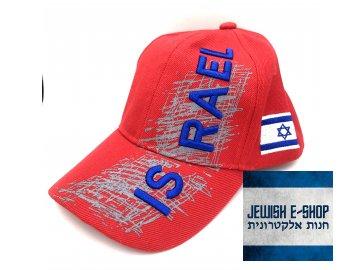 Kšiltovka ISRAEL - Made in Izrael - červená