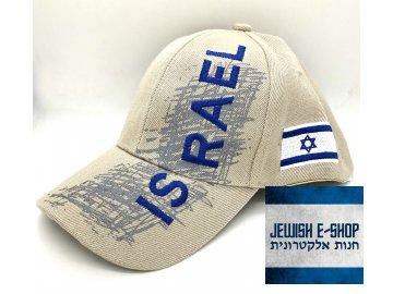 Kšiltovka ISRAEL - Made in Izrael - béžová