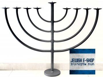 Kovaná chanukije - židovský svícen BIG