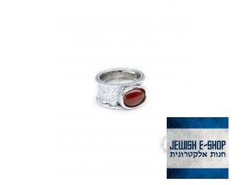 Stříbrný prsten s karneolem - Velikost 7