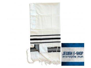 Talitnia Prima AA Tallit Premium Pure Wool Prayer Shawl Black Stripes+85 259 920x800 1