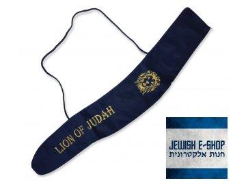 Blue Velvet Yemenite Shofar Bag Lion of Judah for Shofar 36 to 46 inches+85 21189 920x800