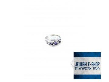 Stříbrný prsten s ametysty - Velikost 7