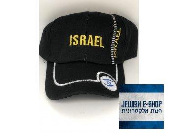 Kšiltovka ISRAEL - černá - II. JAKOST