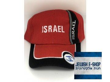 Kšiltovka ISRAEL - červená - II. JAKOST