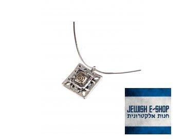 Stříbrný náhrdelník se zlatou spirálkou