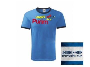 Tričko - Happy PURIM - Blue