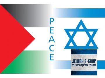 Vlajka PEACE - Israel = Palestina - LOVE!