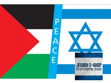 Vlajka PEACE -IZRAEL a PALESTINA