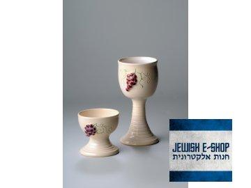 Kidush keramický set  - hand made in CR