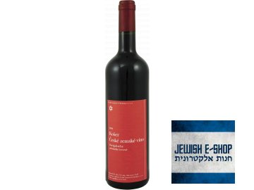 Košer české zemské víno Zweigeltrebe polosladké červené 2014  na kiduš